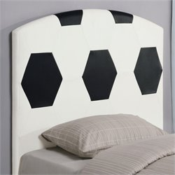 Bowery Hill Twin Soccer Ball Panel Headboard in White