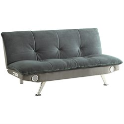 MER-757 Bowery Hill Armless Convertible Sofa with Bluetooth Speakers