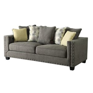 Bowery Hill Fabric Sofa in Gray
