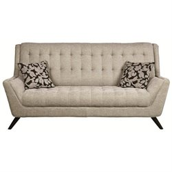Bowery Hill Tufted Fabric Sofa