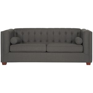 Bowery Hill Fabric Sofa in Charcoal