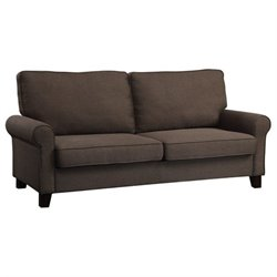 Bowery Hill Fabric Sofa in Chocolate