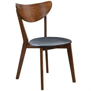 Bowery Hill Modern Dining Side Chair in Black