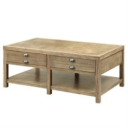 Bowery Hill Storage Coffee Table in Light Oak