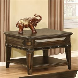 Bowery Hill Storage End Table in Dull Black