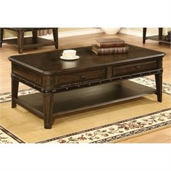 Bowery Hill Storage Coffee Table in Dull Black