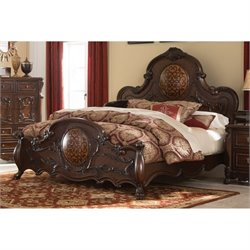 Bowery Hill Queen Panel Bed in Cherry