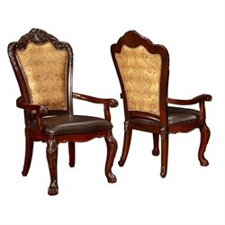 Bowery Hill Dining Arm Chair in Dark Cherry