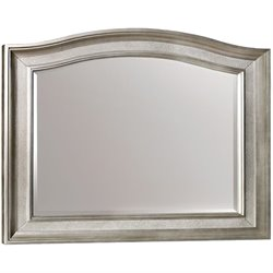 Bowery Hill Mirror with Arched Top in Metallic Platinum