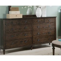 Bowery Hill 8 Drawer Dresser in Dark Oak