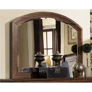 Bowery Hill Rounded Edge Mirror in Cocoa Brown