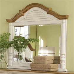 Bowery Hill Arched Frame Mirror in Buttermilk