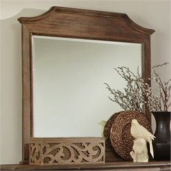 Bowery Hill Mirror in Wire Brushed Mushroom