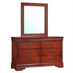 Bowery Hill 6 Drawer Dresser in Red Brown