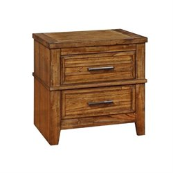 Bowery Hill 2 Drawer Nightstand in Antique Amber