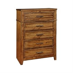 Bowery Hill 5 Drawer Chest in Antique Amber