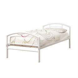 Bowery Hill Twin Iron Bed in White