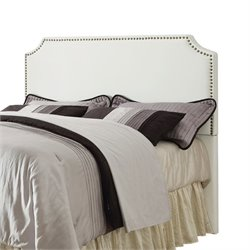 Bowery Hill Upholstered Full Queen Headboard in White