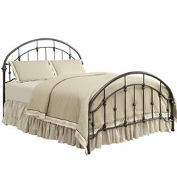 Bowery Hill Queen Metal Bed in Bronze