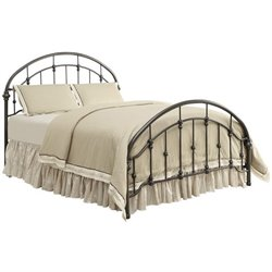 Bowery Hill Full Metal Bed in Bronze