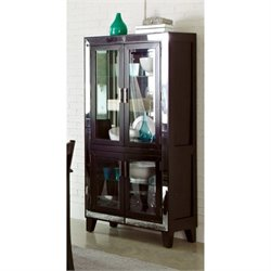 Bowery Hill 4 Door Curio Cabinet in Cappuccino