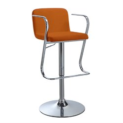 Bowery Hill Adjustable Bar Stool in Caramel