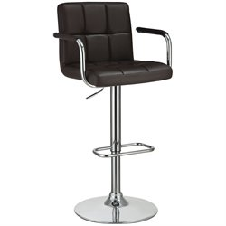 Bowery Hill Adjustable Bar Stool in Brown