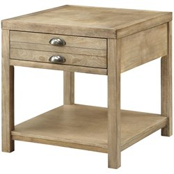 Bowery Hill Storage End Table in Light Oak