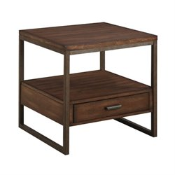 Bowery Hill Storage End Table in Light Brown