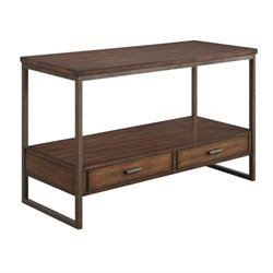 Bowery Hill Storage Console Table in Light Brown