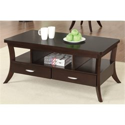 Bowery Hill Storage Coffee Table in Espresso