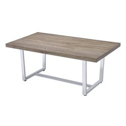 Bowery Hill Coffee Table with U Shape Base in Weathered Taupe