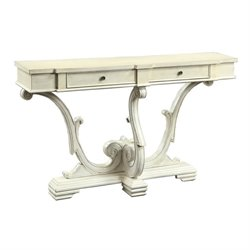 Bowery Hill Accent Storage Console Table in Antique White