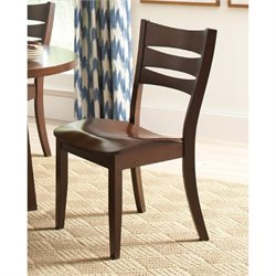 Bowery Hill Slat Back Dining Chair in Dark Brown