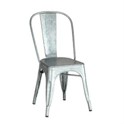 Bowery Hill Metal Dining Chair in Galvanize