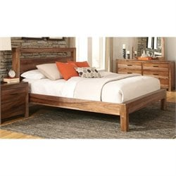 Bowery Hill Queen Platform Bed in Natural Brown