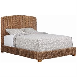 Bowery Hill Queen Banana Leaf Platform Bed in Natural