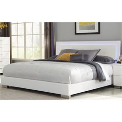Bowery Hill Lighting Bed in High Gloss White