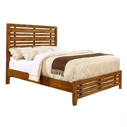 Bowery Hill California King Slat Bed in Antique Amber