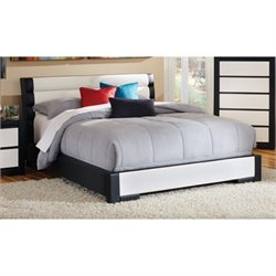Bowery Hill Upholstered Twin Platform Bed in Black