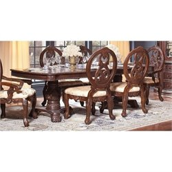 Bowery Hill European Dining Table with Leaf in Dark Cherry