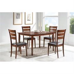 Bowery Hill 5 Piece Dining Set in Medium Brown
