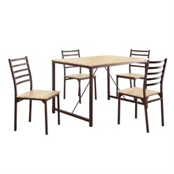 Bowery Hill 5 Piece Dining Set in Bronze