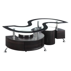 Bowery Hill Coffee Table Set in Cappuccino