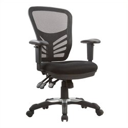 Bowery Hill Mesh Executive Office Chair in Black
