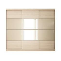 Bowery Hill Wardrobe in Oak Vanilla