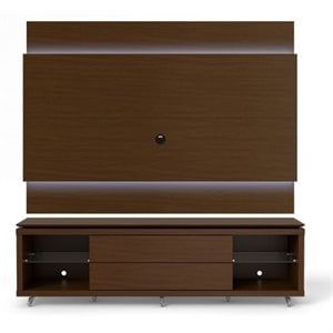 MER-995 TV Stand and LED Panel Set in Nut Brown