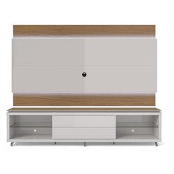 MER-995 TV Stand and LED Panel Set in Off White