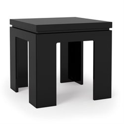 Bowery Hill Square End Table in Glossy Black