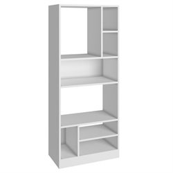 Bowery Hill 8 Shelf Bookcase in White